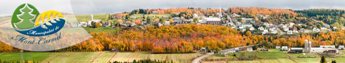 Page d'accueil du site de la Municipalité de Mont-Carmel