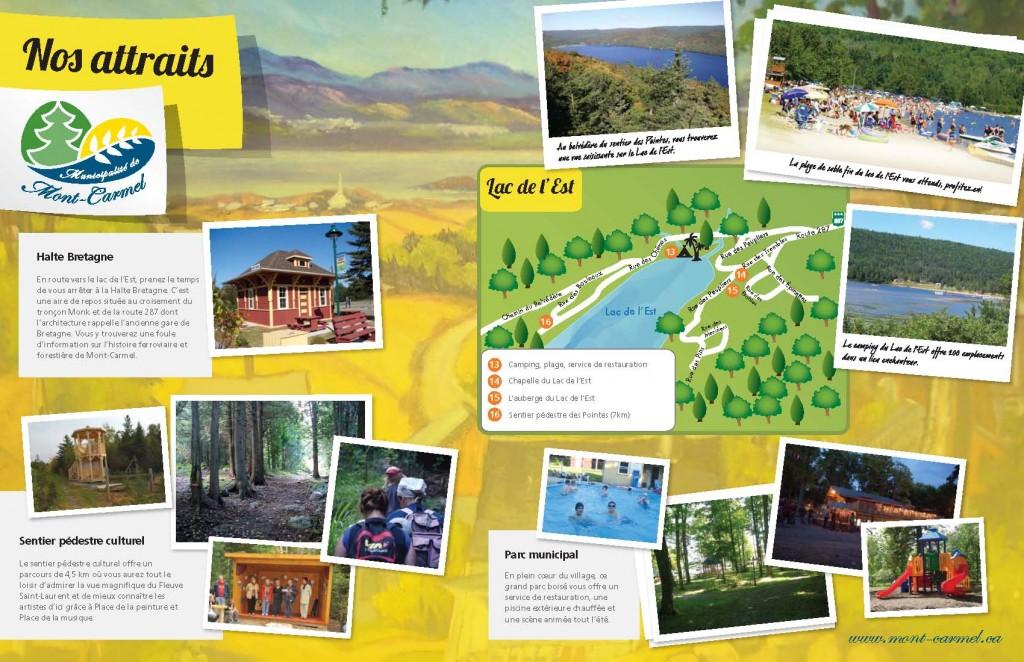 Carte touristique de Mont-Carmel 2