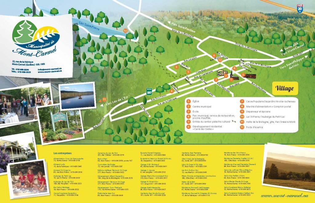 Carte touristique de Mont-Carmel 1